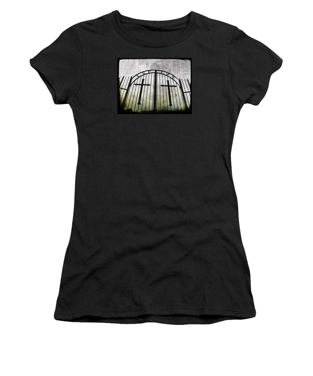Graves Women's T-Shirt featuring the photograph Unblessed Ground by Chris Berry