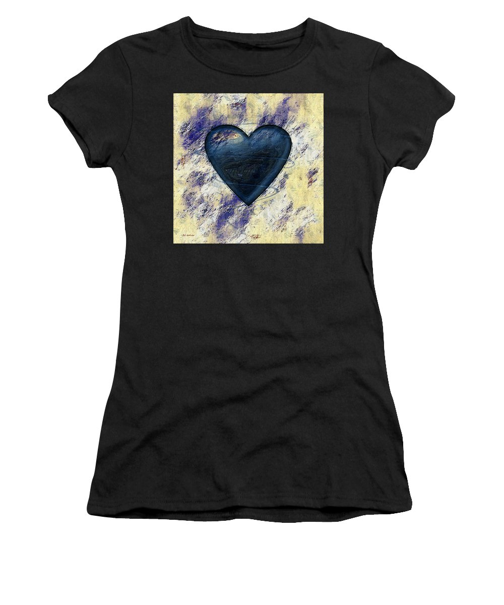 Blue Women's T-Shirt featuring the painting Under Construction by RC DeWinter