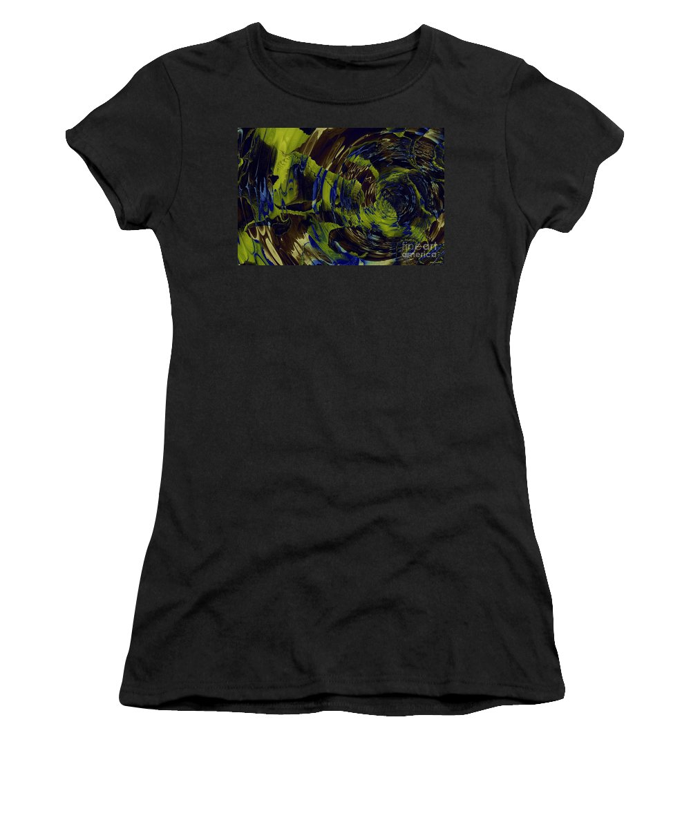 Under The Ripples Women's T-Shirt featuring the digital art Under The Ripples by Elizabeth McTaggart