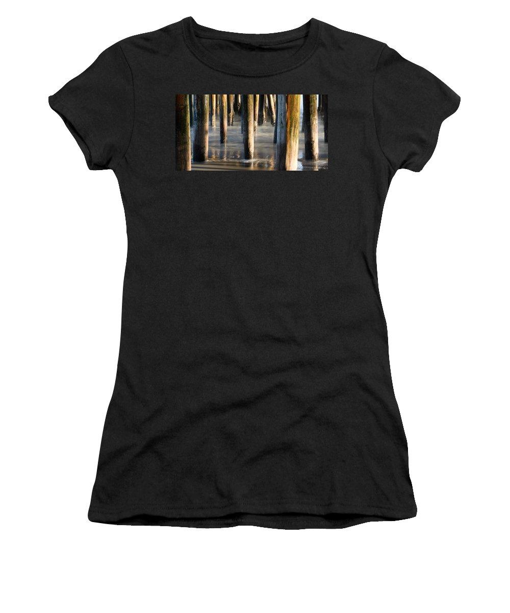 Santa Cruz Women's T-Shirt featuring the photograph Under The Wharf by Dayne Reast