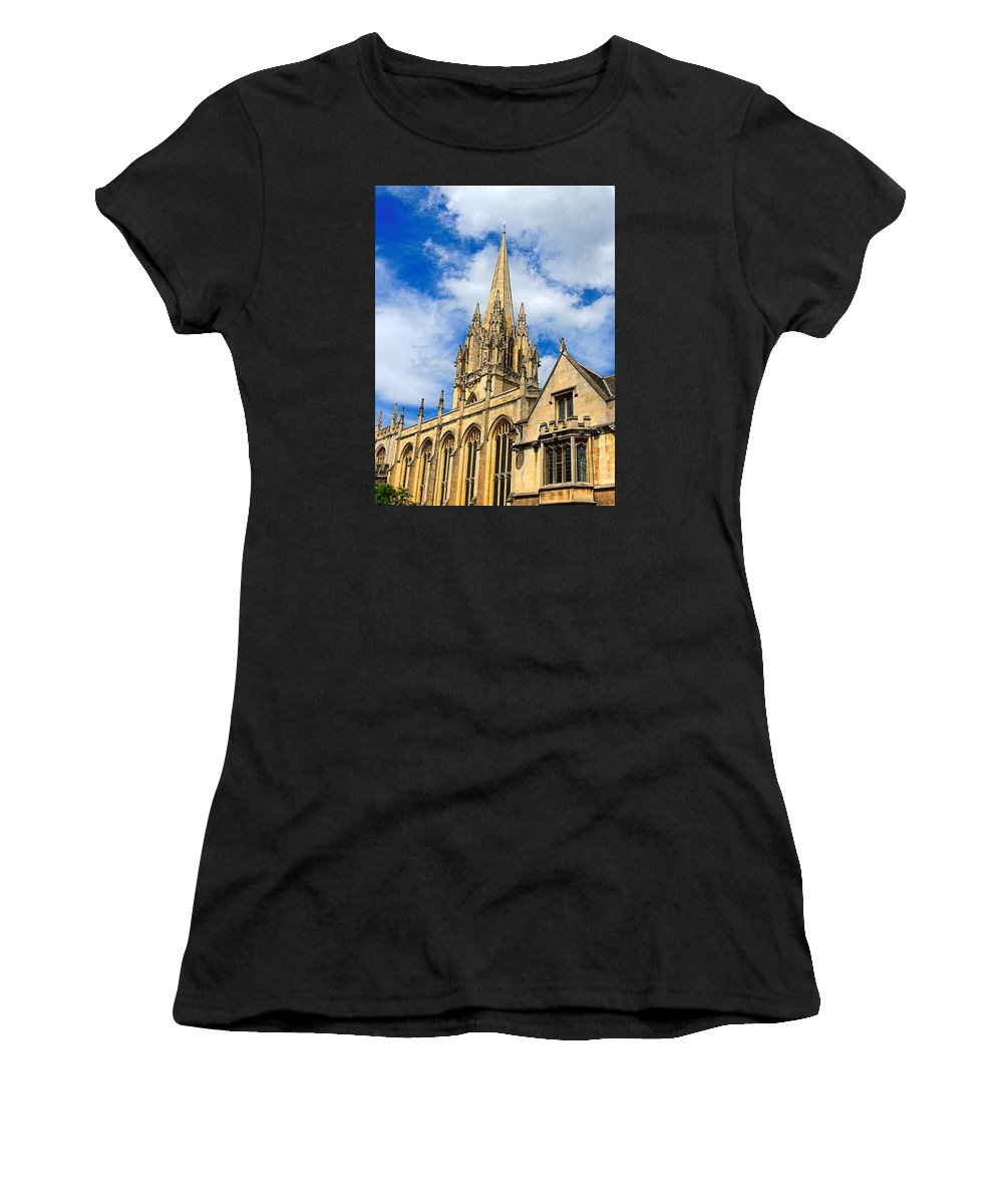 Anglo Saxon Women's T-Shirt featuring the photograph University Church Of St Mary The Virgin by Marilyn Holkham