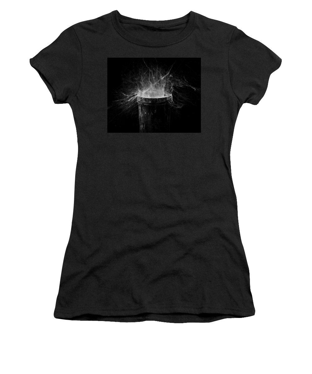 Cobweb Women's T-Shirt featuring the photograph Untitled Cobweb by Julian Cook