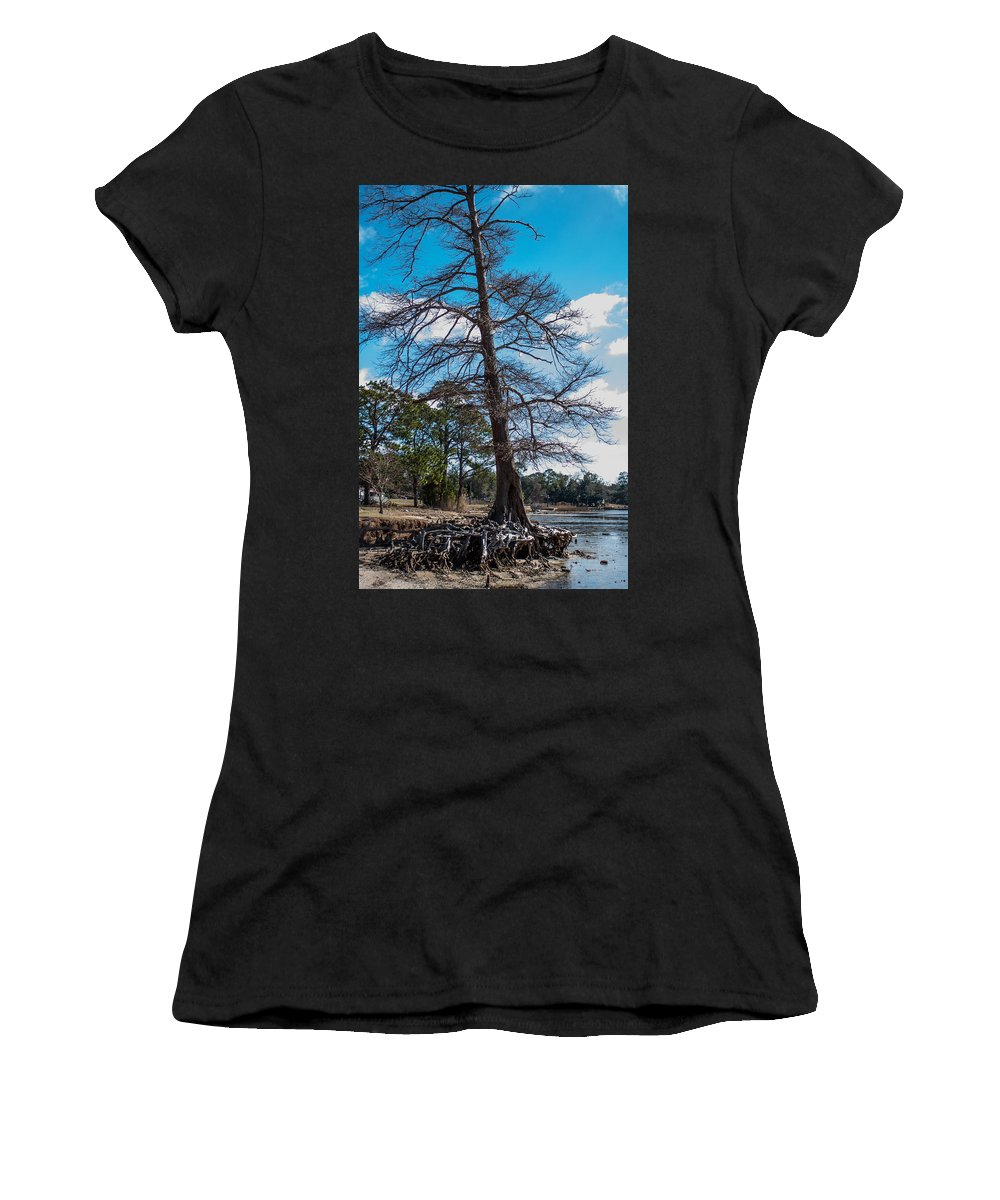 Roots Women's T-Shirt (Athletic Fit) featuring the photograph Uprooted by Mechala Matthews