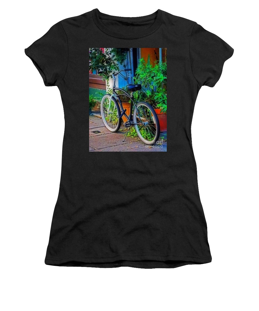Scenic Tours Women's T-Shirt (Athletic Fit) featuring the photograph Urban Transport by Skip Willits