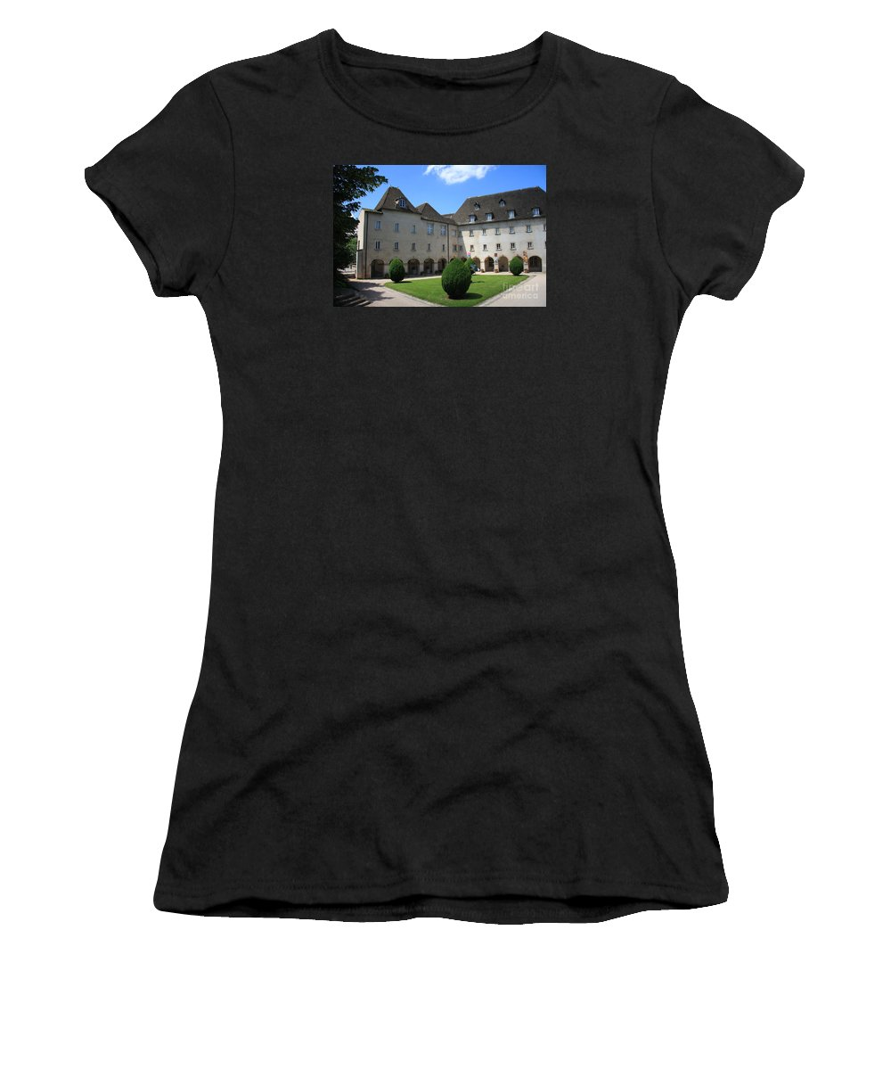 Convent Women's T-Shirt (Athletic Fit) featuring the photograph Ursulinen Convent - Macon by Christiane Schulze Art And Photography