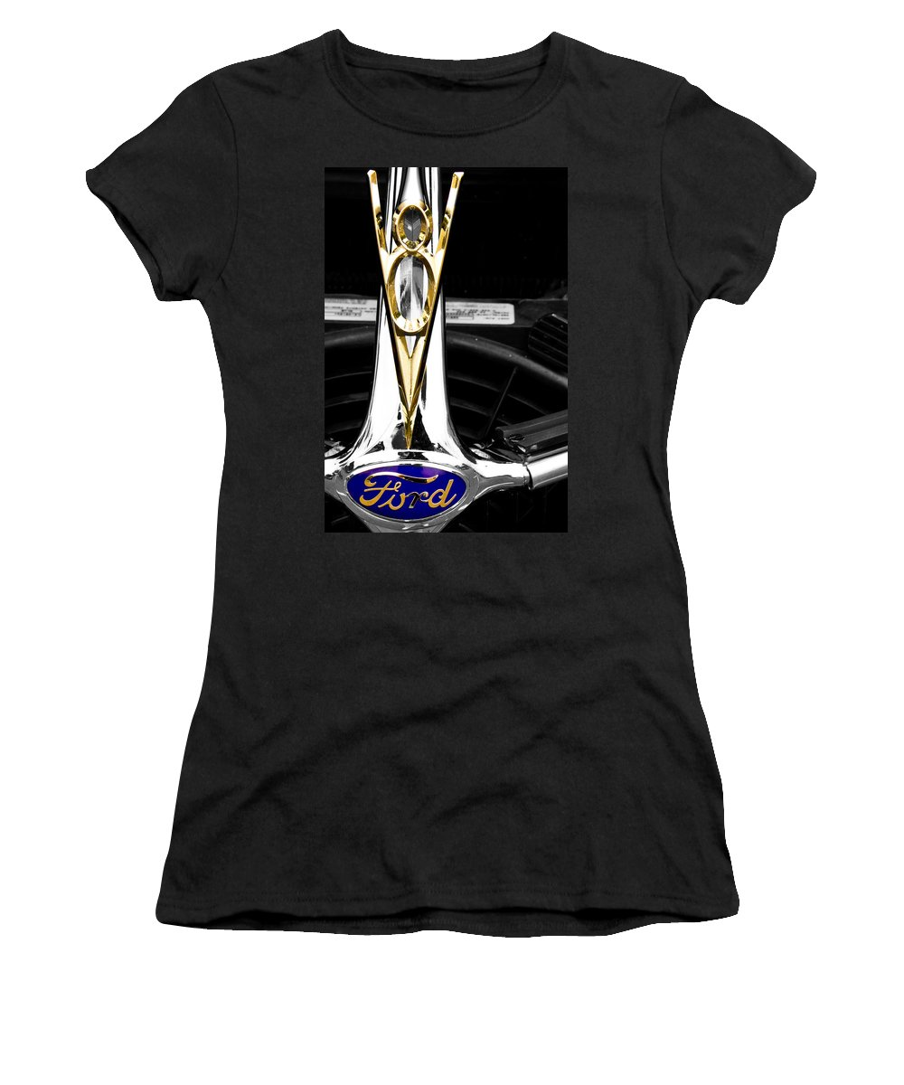 American Women's T-Shirt featuring the photograph V8 by Tom Gari Gallery-Three-Photography