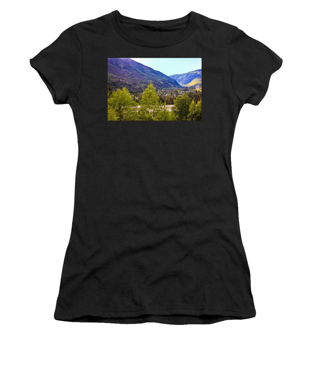 Vail Colorado Women's T-Shirt (Athletic Fit) featuring the photograph Vail Vista 1 by Madeline Ellis