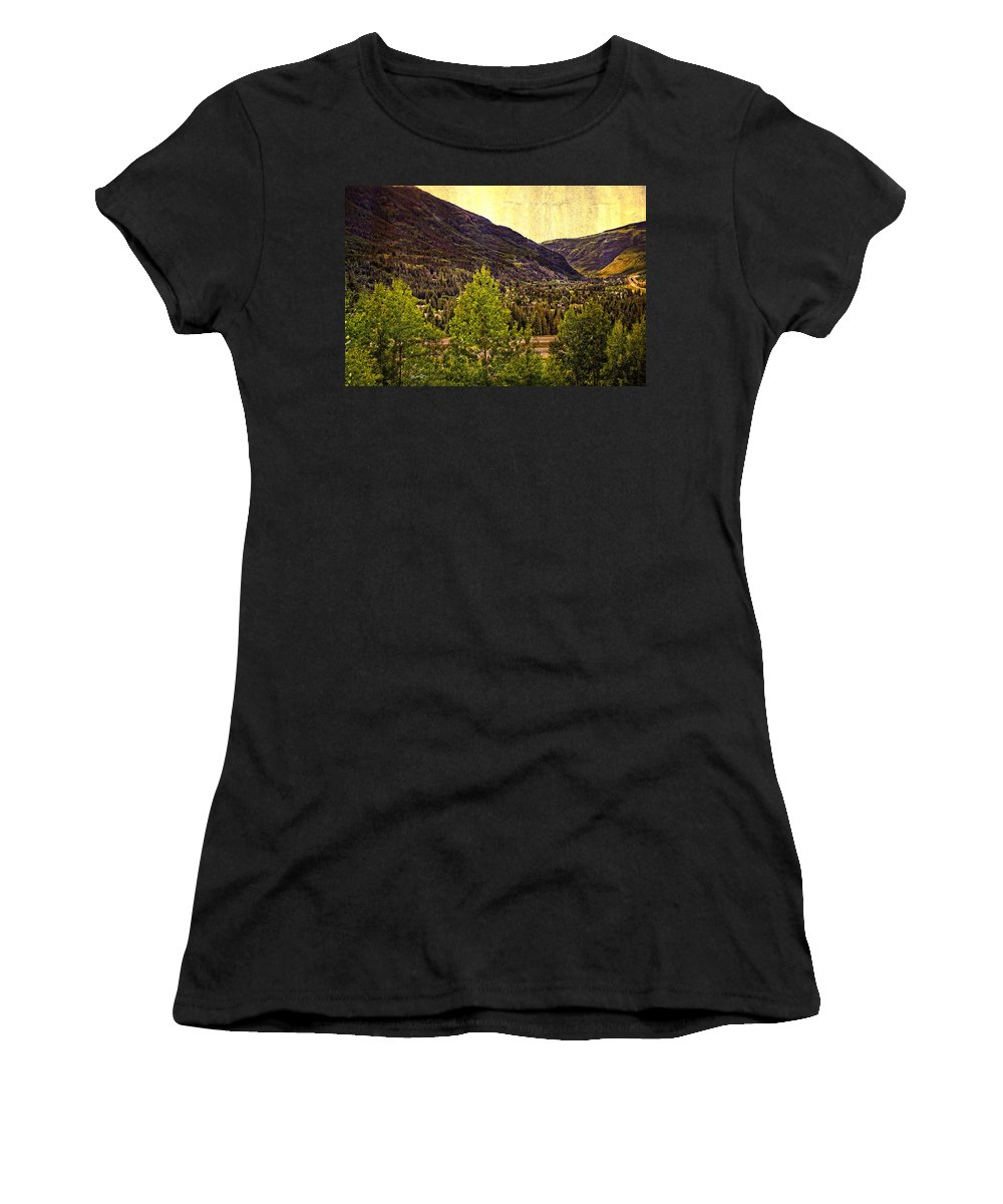 Vail Colorado Women's T-Shirt (Athletic Fit) featuring the photograph Vail Vista 2 by Madeline Ellis