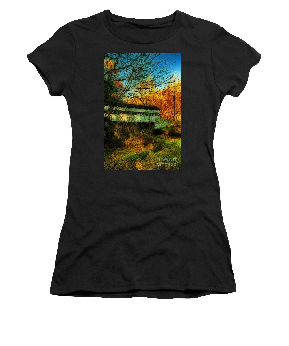 Nature Women's T-Shirt featuring the photograph Valley Forge by Skip Willits