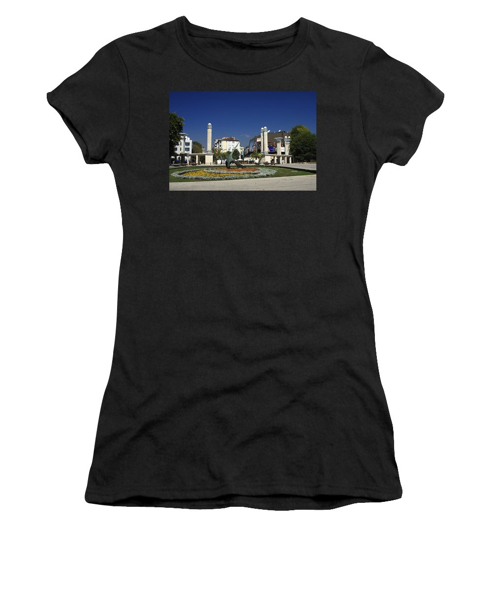 Garden Women's T-Shirt (Athletic Fit) featuring the photograph Varna Bulgaria by Sally Weigand