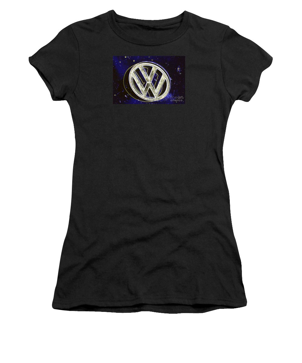 Wendy Women's T-Shirt featuring the digital art Vdub 2 by Wendy Wilton