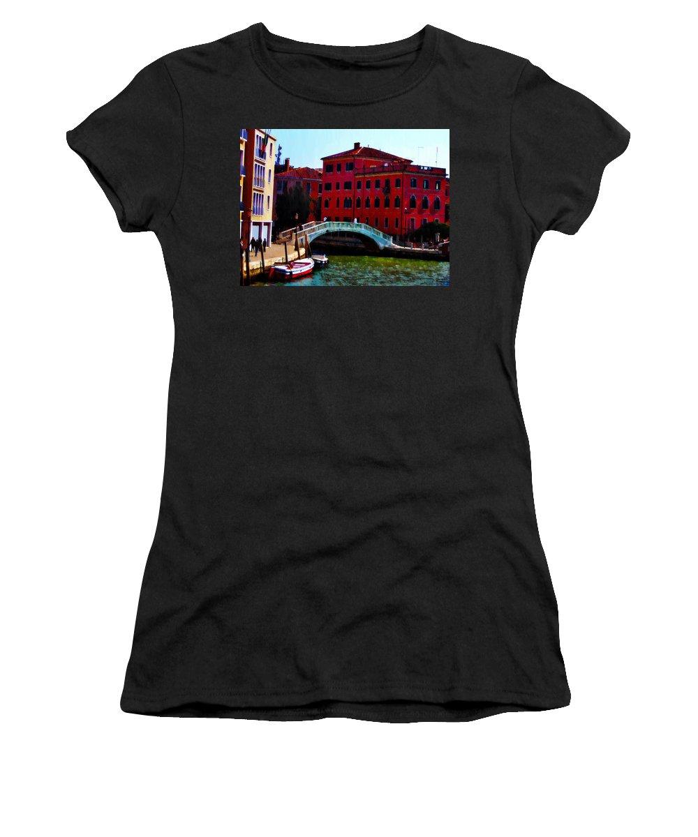 Venice Women's T-Shirt featuring the photograph Venice Bow Bridge by Bill Cannon