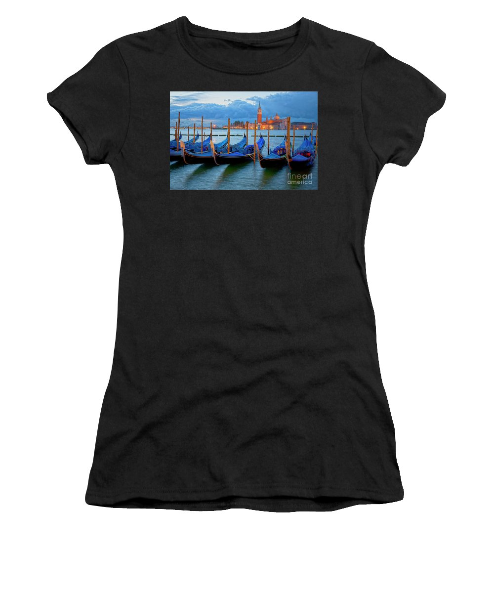 Venice Women's T-Shirt (Athletic Fit) featuring the photograph Venice View To San Giorgio Maggiore by Heiko Koehrer-Wagner
