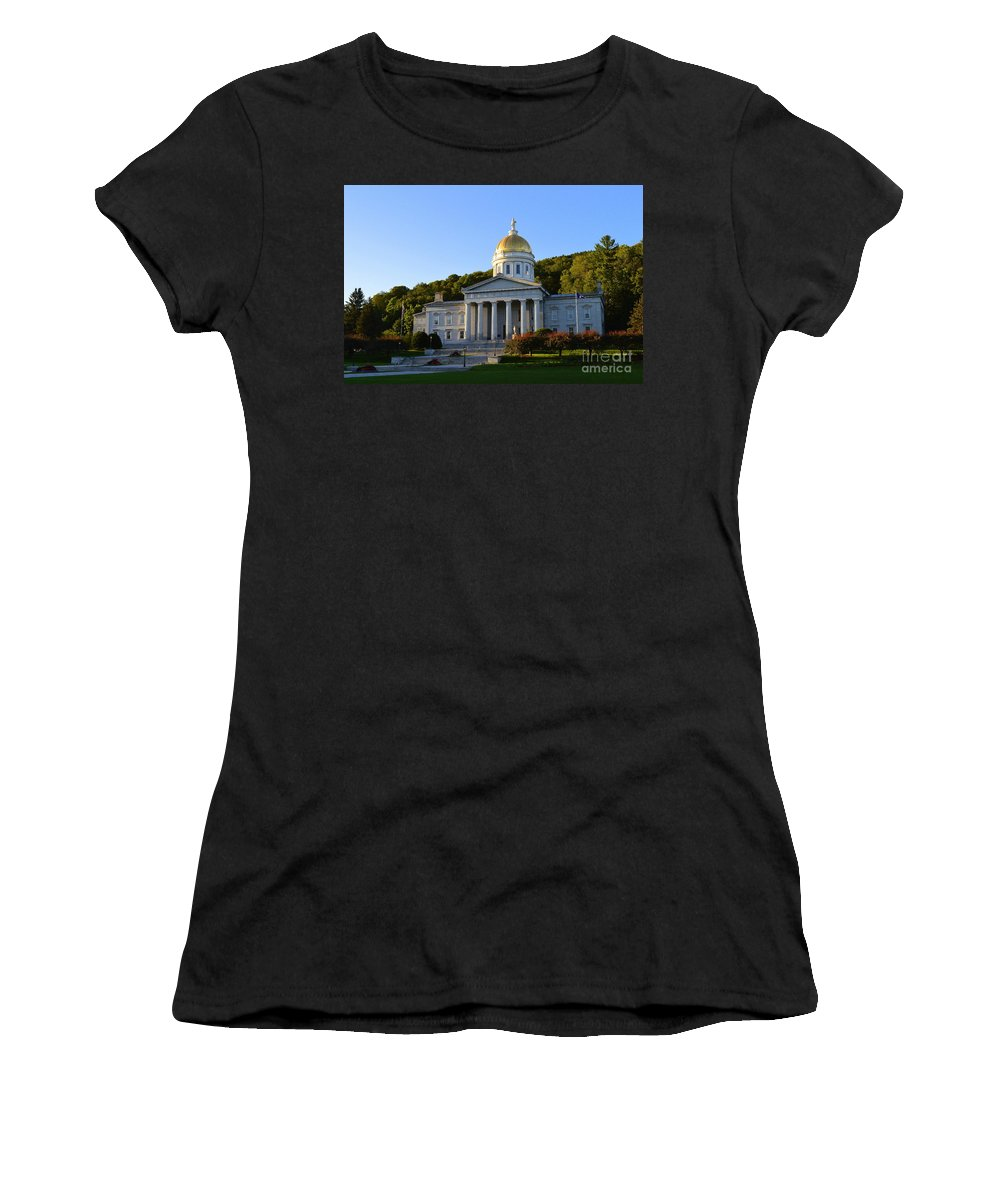 Vermont Women's T-Shirt featuring the photograph Vermont State House by Catherine Sherman
