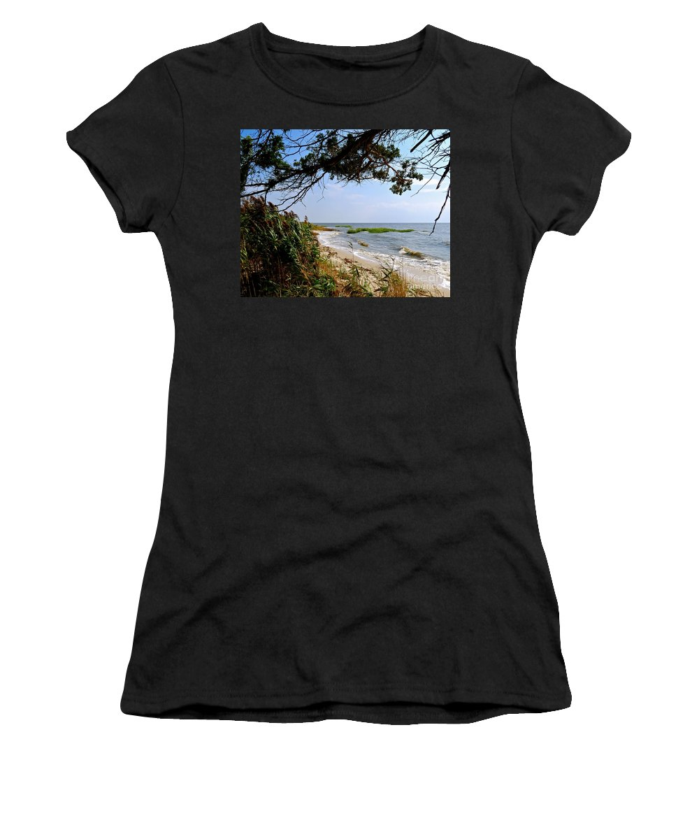 East Point Women's T-Shirt featuring the photograph View At East Point by Nancy Patterson