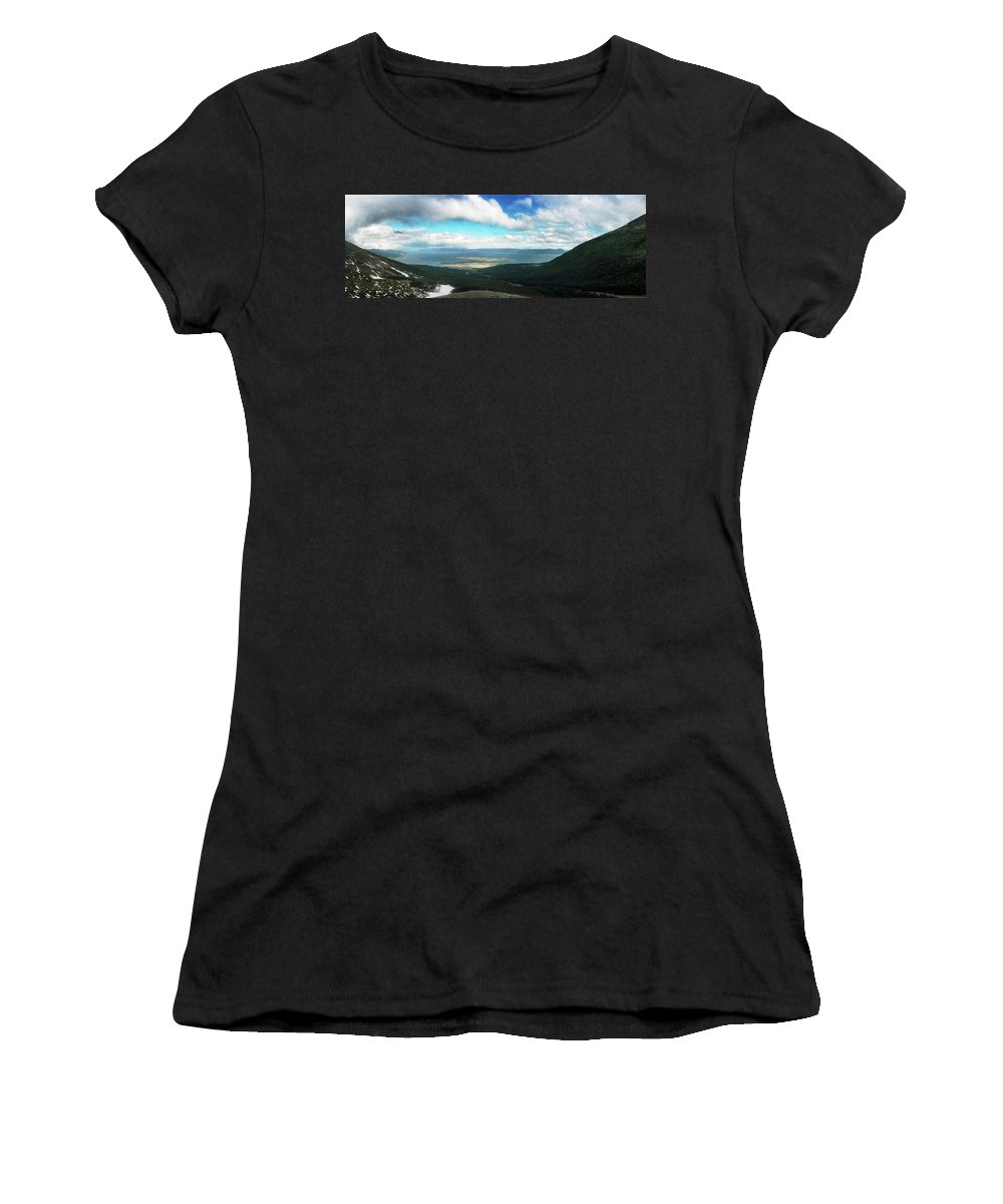 Photography Women's T-Shirt featuring the photograph View From Martial Glacier, Ushuaia by Panoramic Images