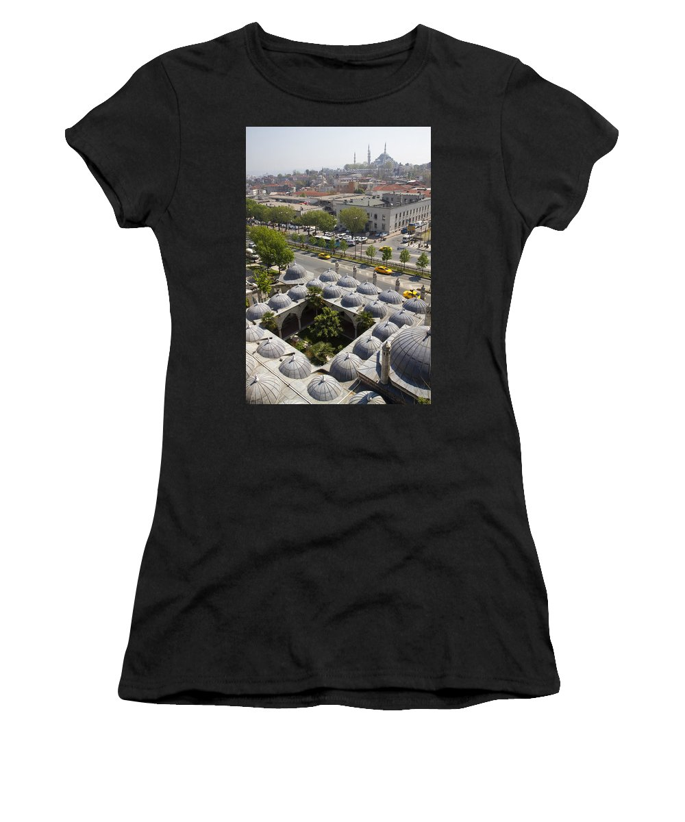 Aqueduct Women's T-Shirt (Athletic Fit) featuring the photograph View From The Valens Aqueduct In Istanbul by For Ninety One Days
