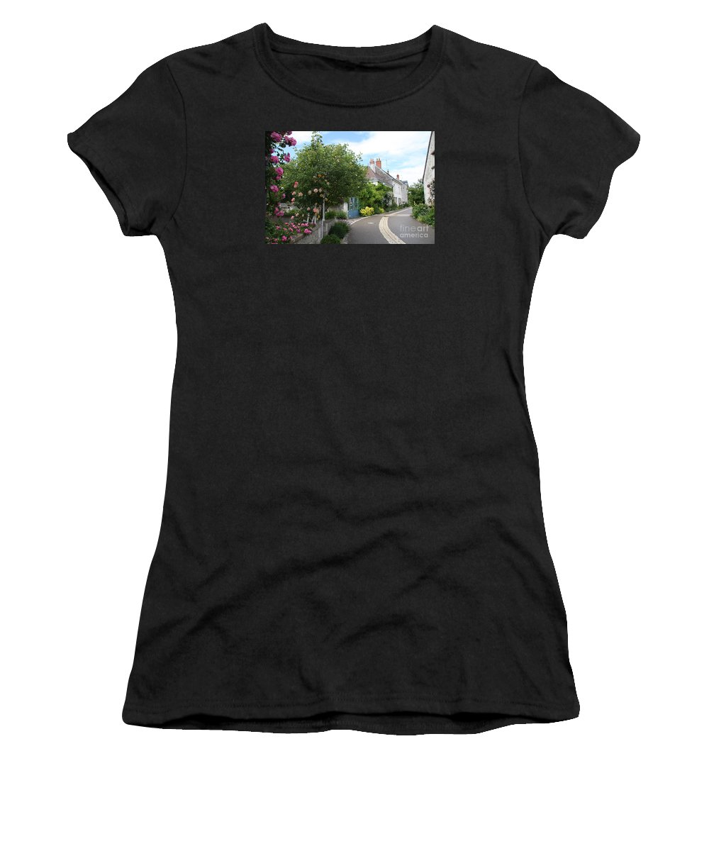 Village Women's T-Shirt (Athletic Fit) featuring the photograph Village Road by Christiane Schulze Art And Photography