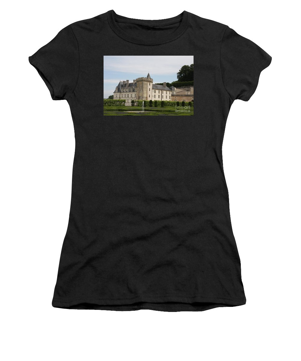 Palace Women's T-Shirt featuring the photograph Villandry Chateau And Boxwood Garden by Christiane Schulze Art And Photography