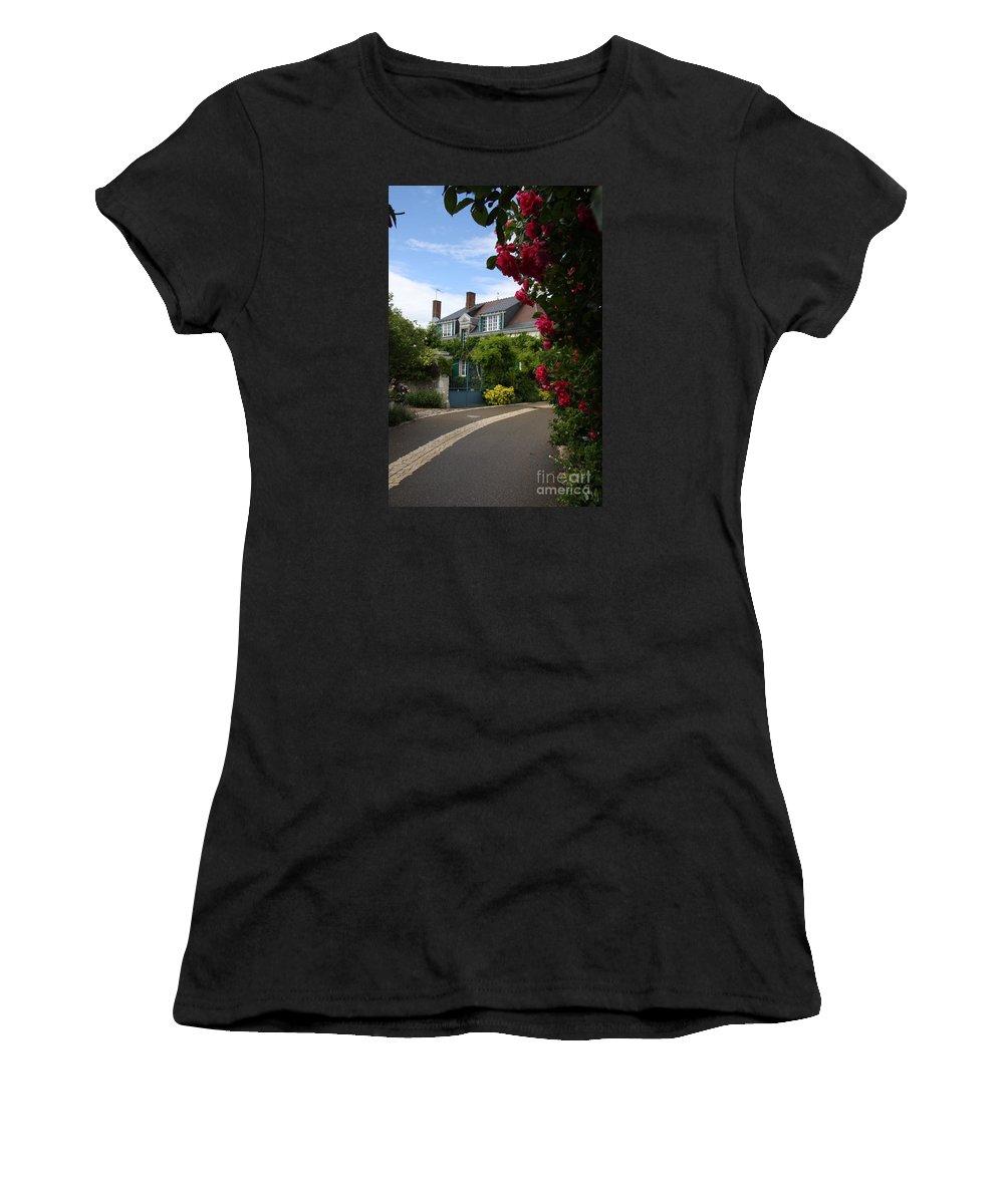 Village Women's T-Shirt (Athletic Fit) featuring the photograph Ville De Fleur - France by Christiane Schulze Art And Photography