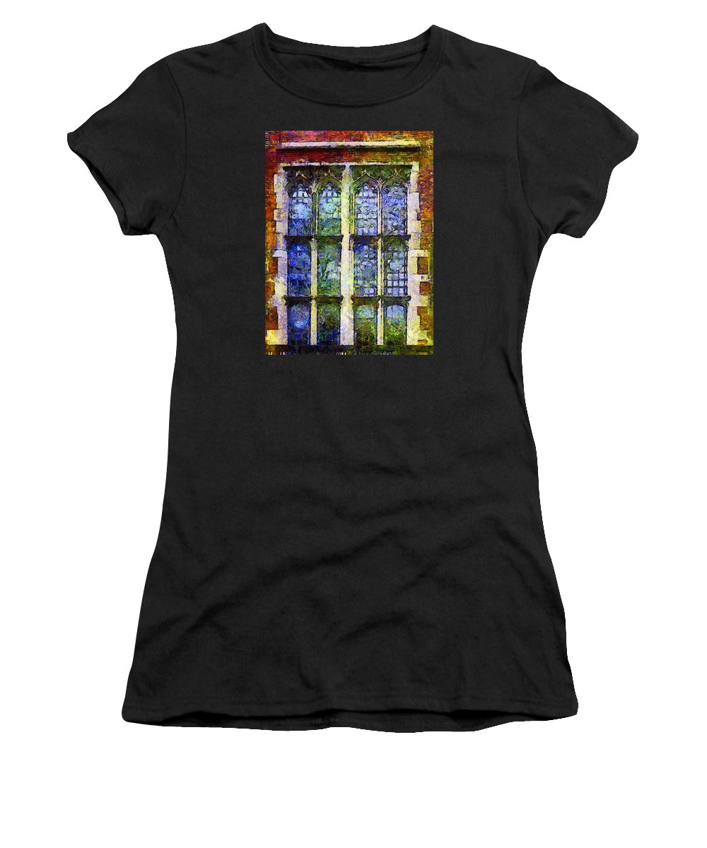Architecture Women's T-Shirt featuring the painting Vincent's Window by RC DeWinter