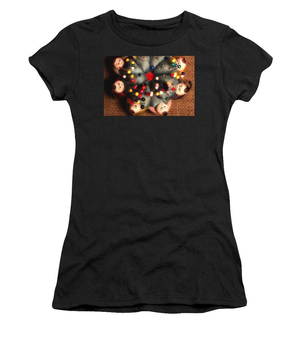 Pin Cushion Women's T-Shirt featuring the photograph Vintage Pin Cushion by Michael Eingle