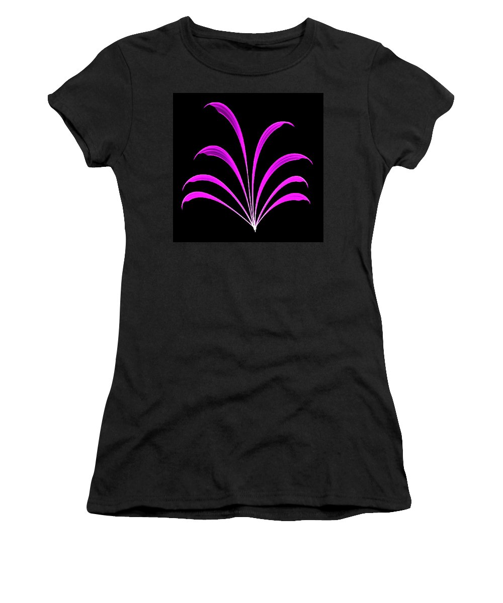 Violet Women's T-Shirt featuring the painting Violet Floral Creation by Bruce Nutting