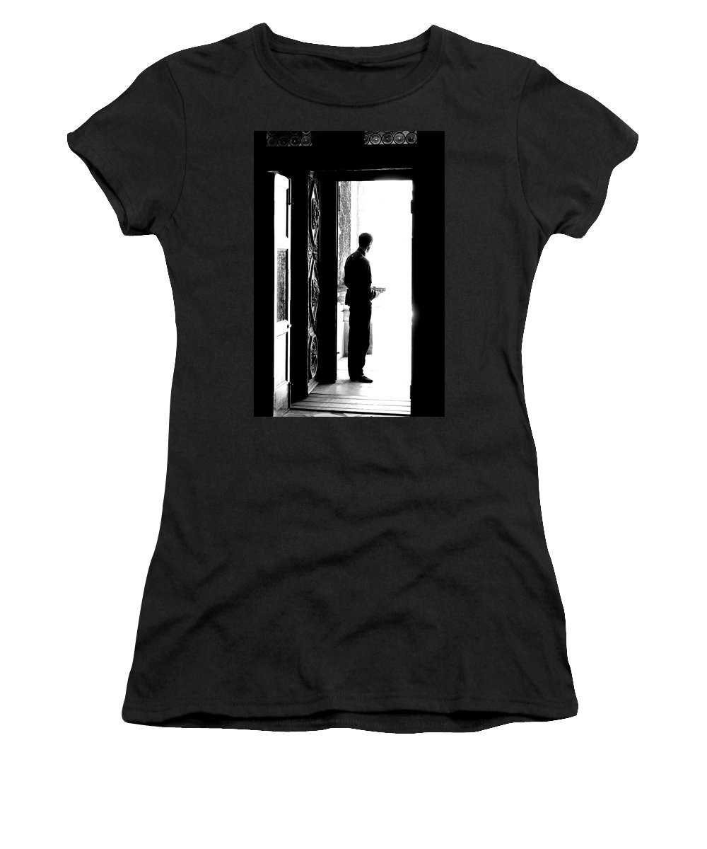 Wait Women's T-Shirt featuring the photograph Waiting For Souls by Valentino Visentini