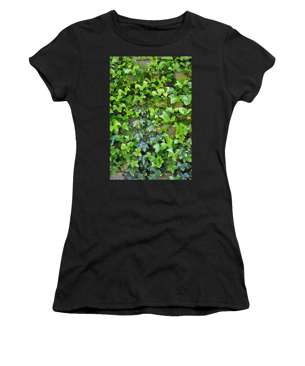 Wall Women's T-Shirt featuring the photograph Wall Of Ivy by Tikvah's Hope