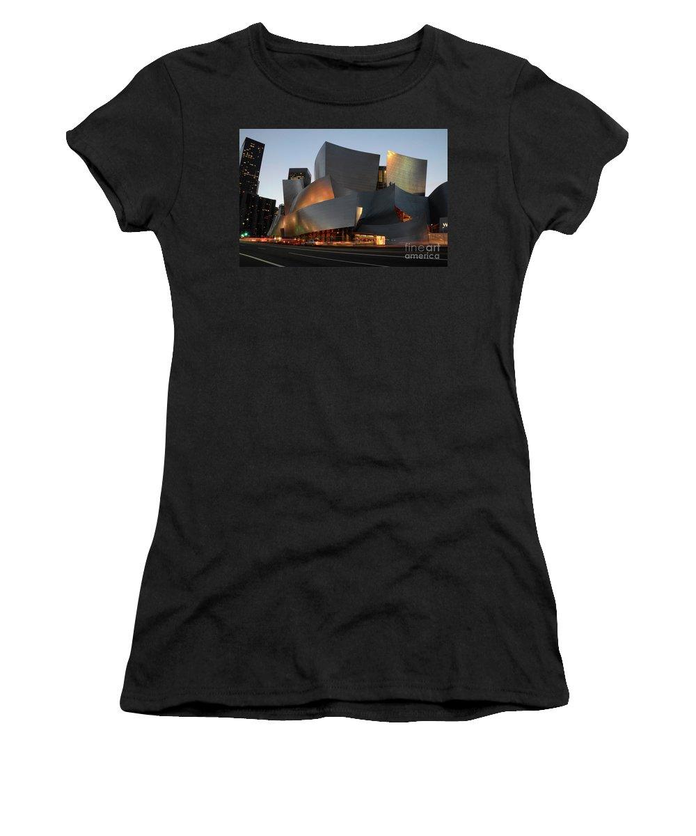 Bob Women's T-Shirt featuring the photograph Walt Disney Concert Hall 21 by Bob Christopher