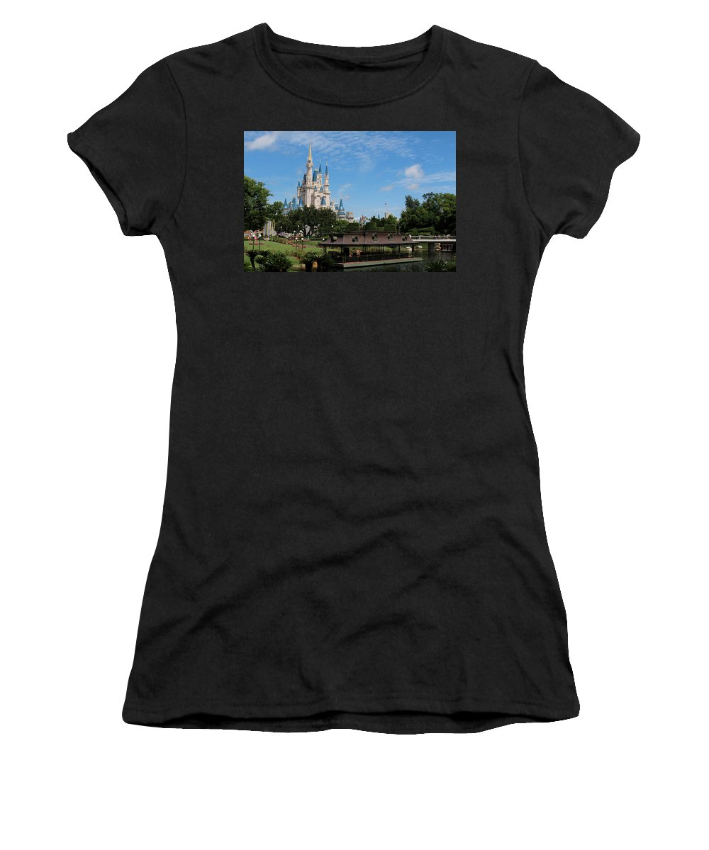 Walt Disney World Women's T-Shirt featuring the photograph Walt Disney World Orlando by Pixabay