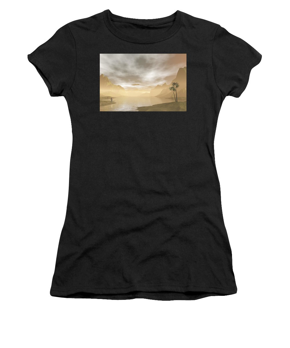 Wanderer Women's T-Shirt featuring the digital art Wanderer by Carol and Mike Werner