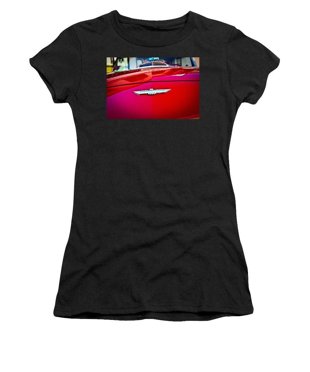 Classic Cars Women's T-Shirt (Athletic Fit) featuring the photograph Warbird by Digital Kulprits