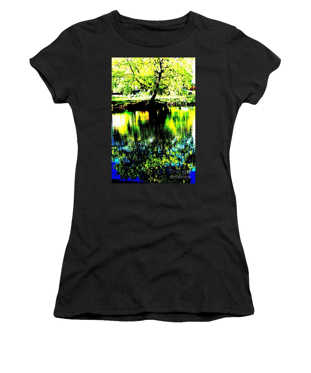 Lakes Women's T-Shirt (Athletic Fit) featuring the photograph Washington Park by Jeffery L Bowers
