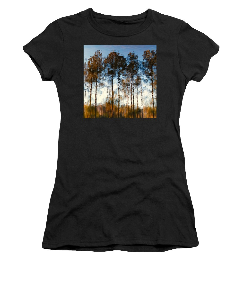 Monet Women's T-Shirt (Athletic Fit) featuring the photograph Water Colors by Steve Stephenson