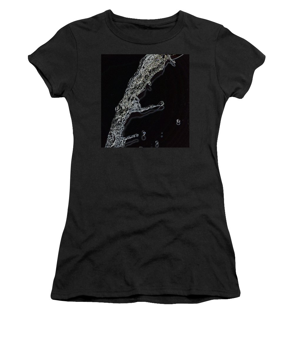 Linda Brody Women's T-Shirt (Athletic Fit) featuring the photograph Water IIi by Linda Brody