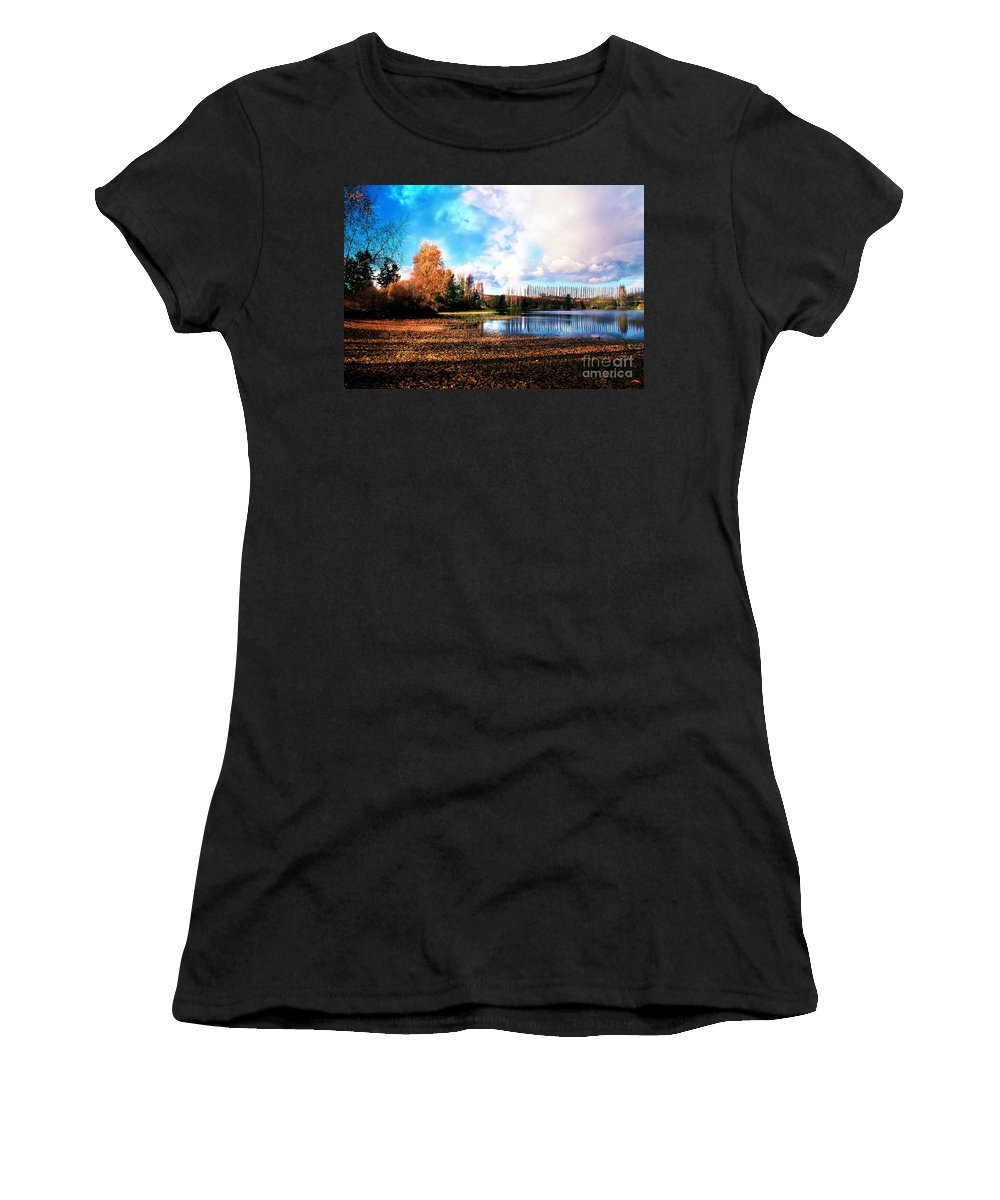 Landscape Women's T-Shirt featuring the photograph Waughop Lake by Earl Johnson
