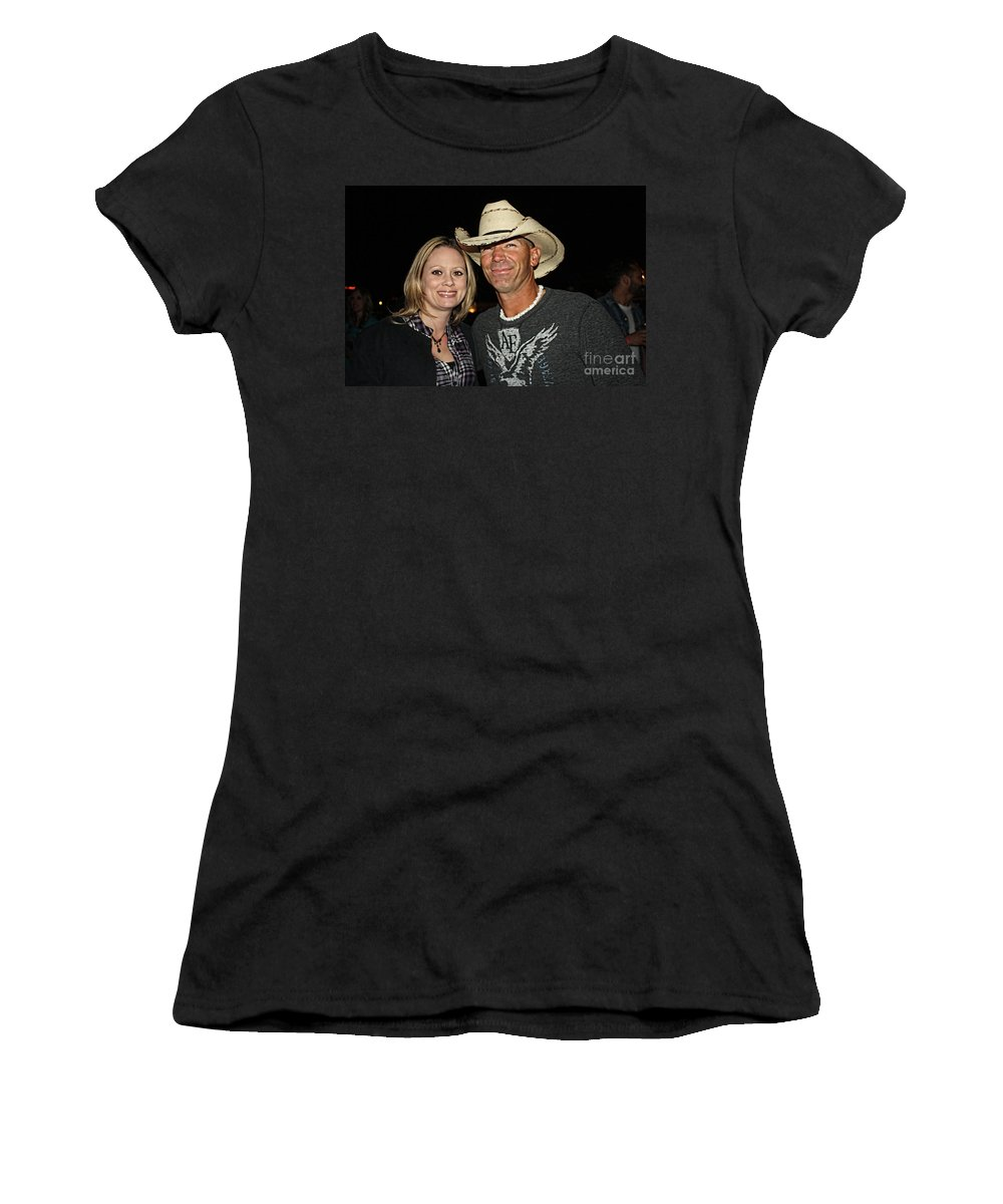 Music Women's T-Shirt (Athletic Fit) featuring the photograph We Went Out Last Night by Tommy Anderson