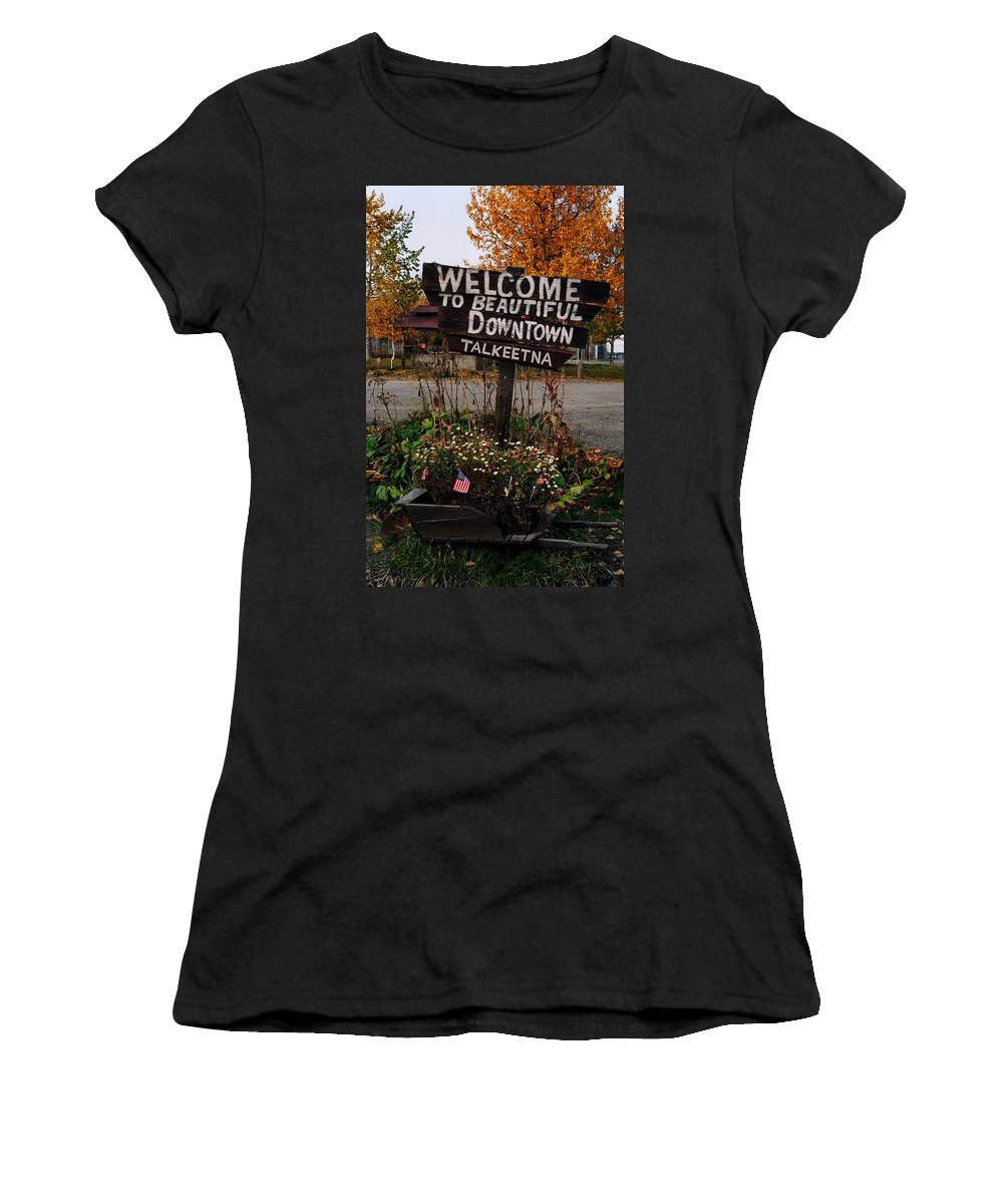 North America Women's T-Shirt (Athletic Fit) featuring the photograph Welcome ... by Juergen Weiss