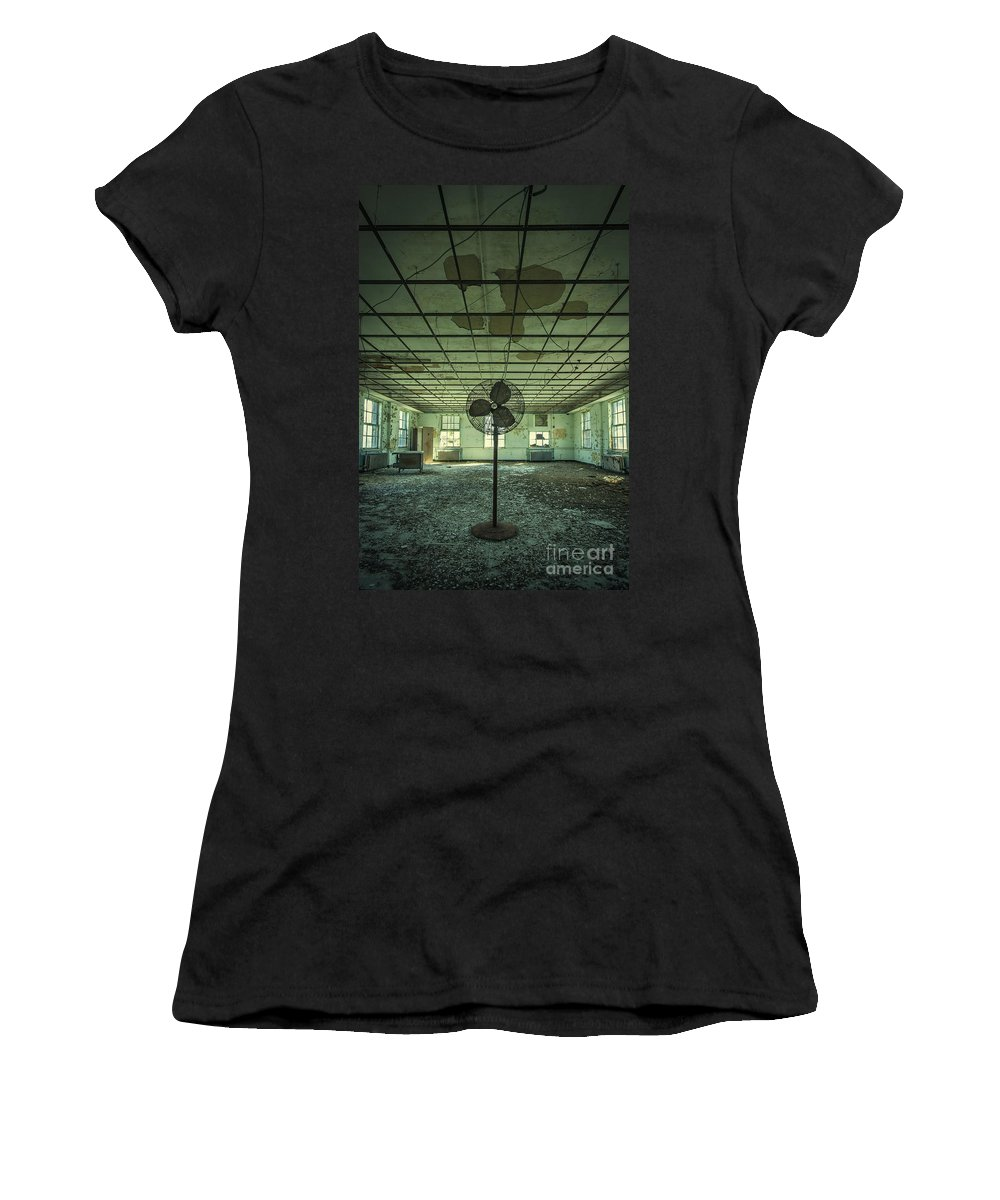 Asylum Women's T-Shirt (Athletic Fit) featuring the photograph Welcome To The Asylum by Evelina Kremsdorf