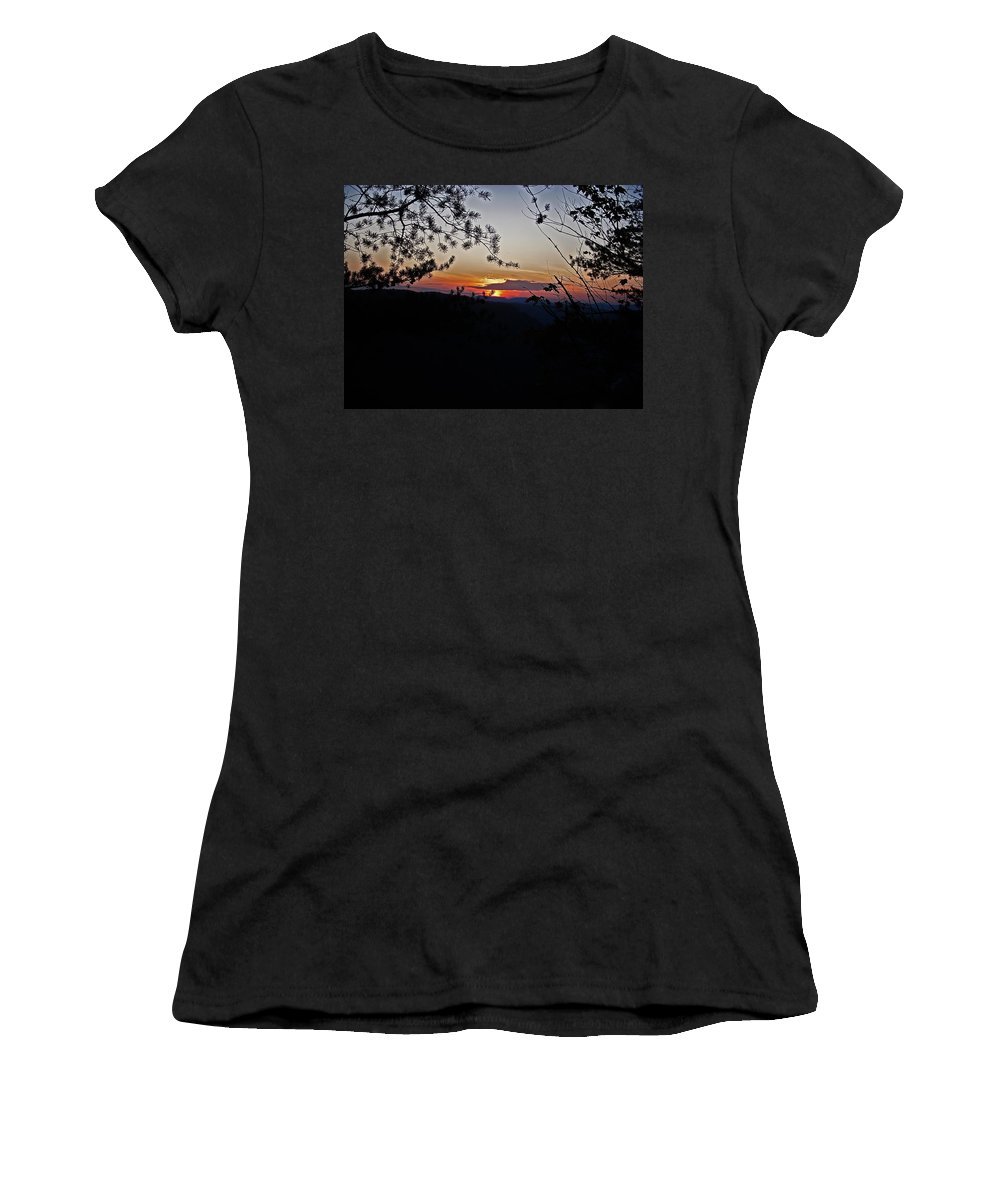 Sunset Women's T-Shirt featuring the photograph West Virginia Sunset 2 by Aimee L Maher ALM GALLERY