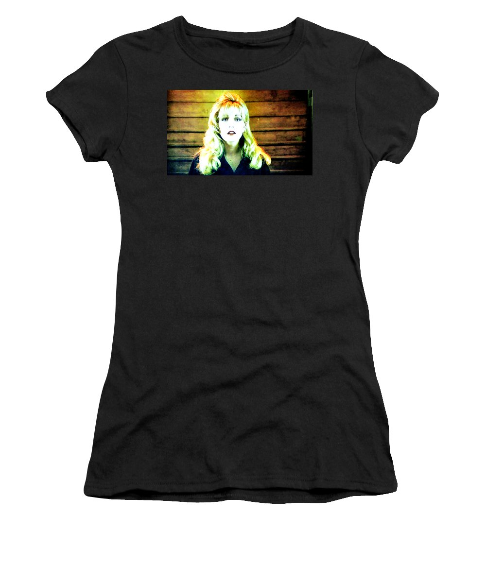 Laura Palmer Women's T-Shirt featuring the painting When All The World Seemed To Sleep by Luis Ludzska