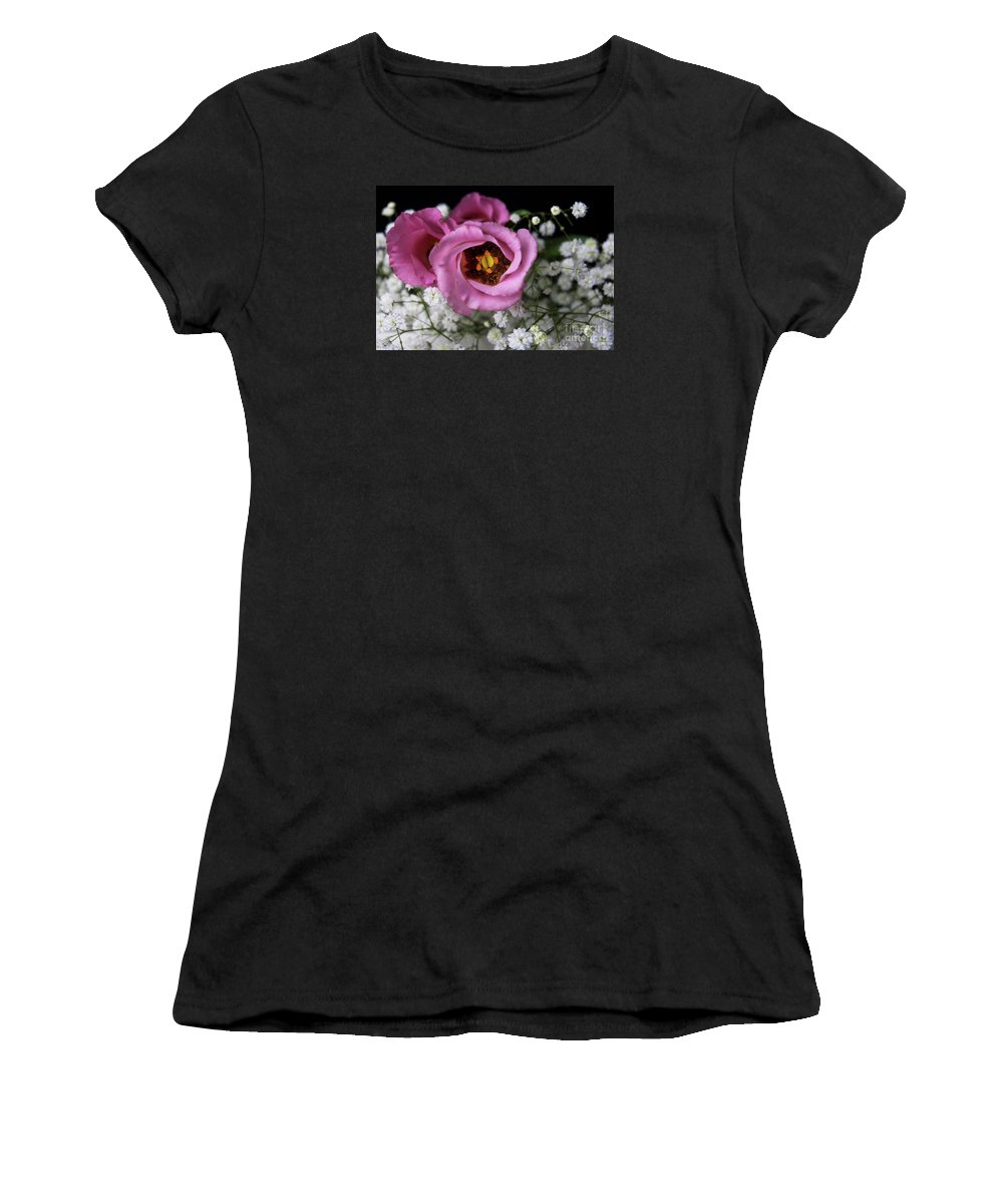 Festblues Women's T-Shirt featuring the photograph Whisper Of Love.. by Nina Stavlund