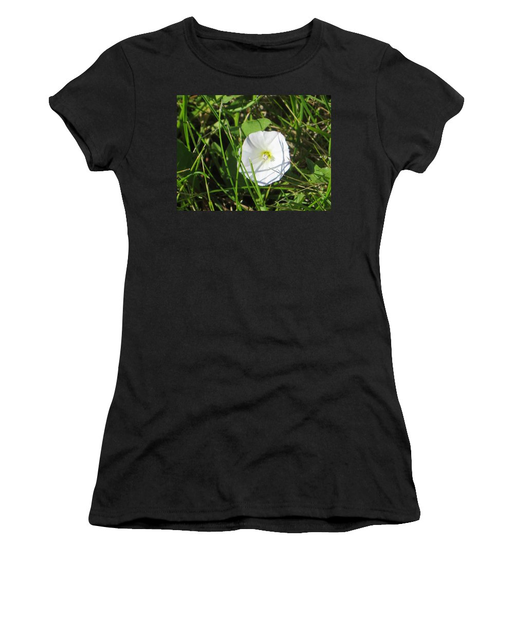 White Flower Women's T-Shirt featuring the photograph White Glow by Sonali Gangane