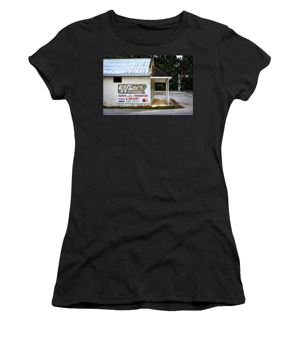 White's Furniture Women's T-Shirt featuring the photograph White's Furniture by Mary Machare