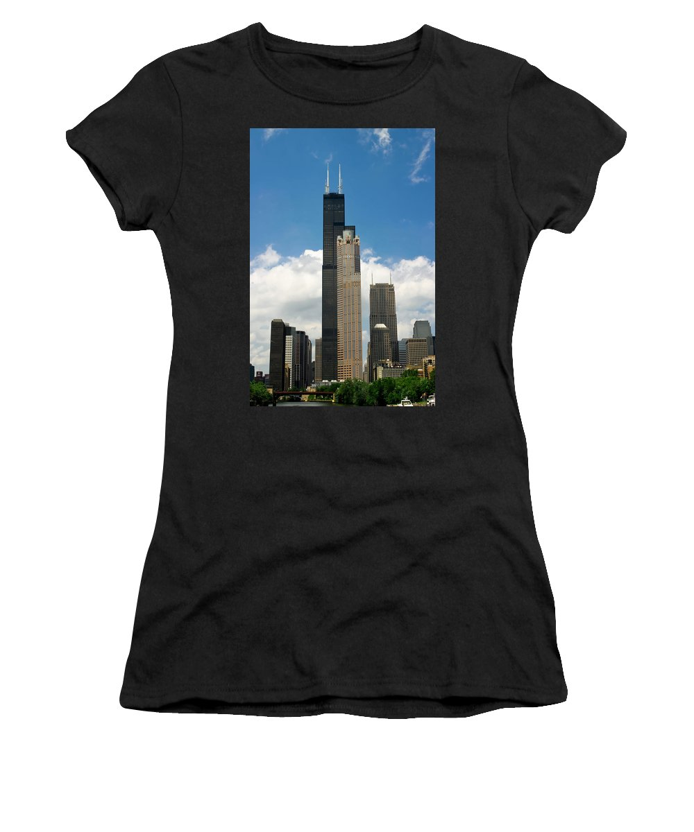 3scape Women's T-Shirt featuring the photograph Willis Tower Aka Sears Tower by Adam Romanowicz
