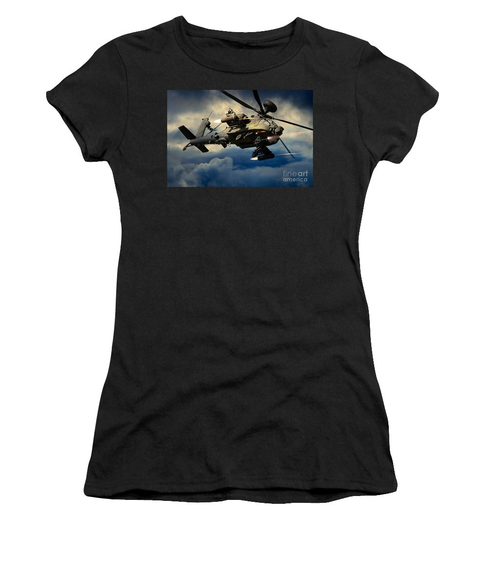 Apache Women's T-Shirt (Athletic Fit) featuring the digital art Winchester by J Biggadike