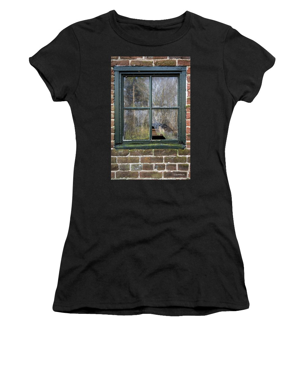 2d Women's T-Shirt (Athletic Fit) featuring the photograph Window At Abbott's Mill by Brian Wallace