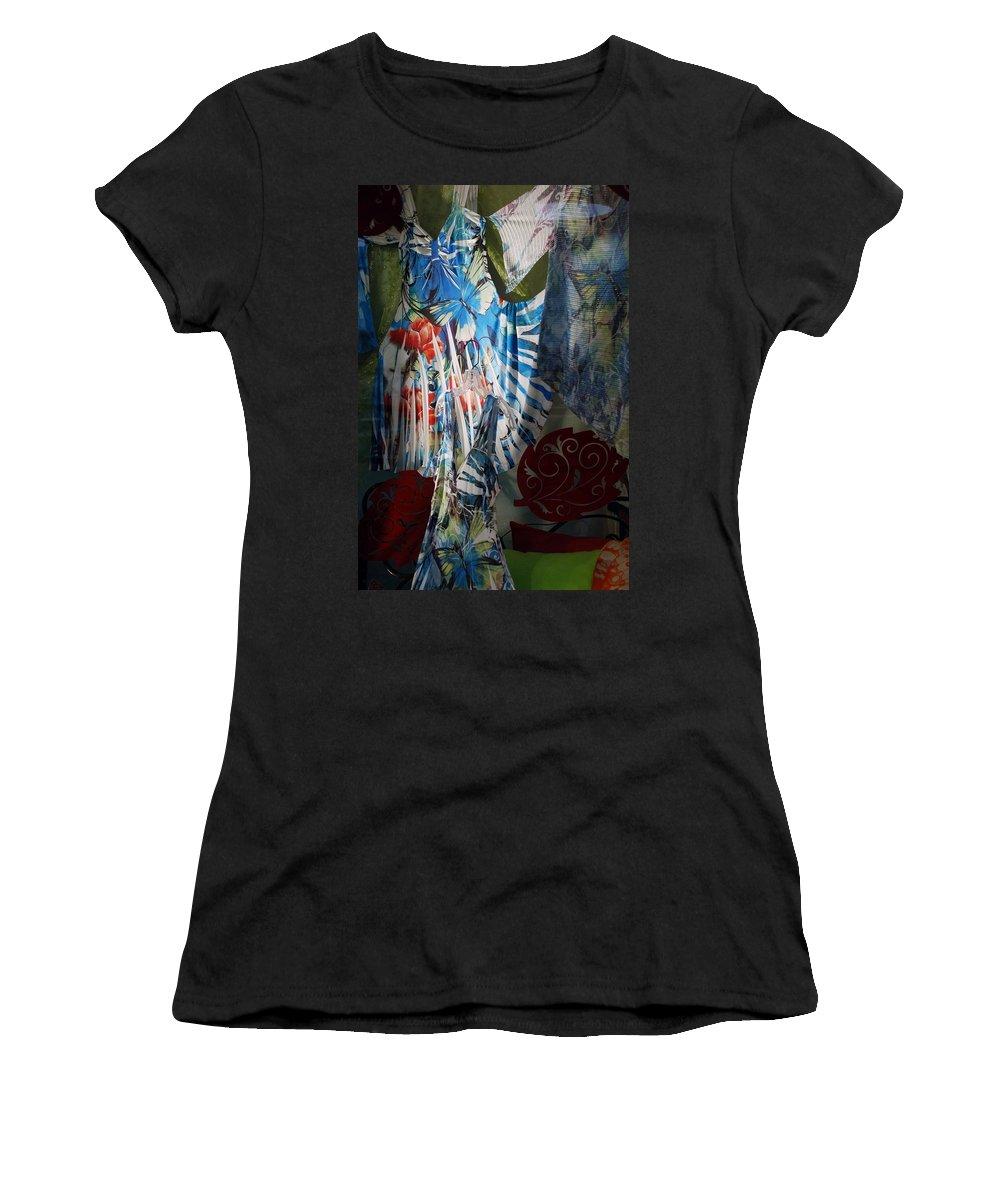 Lepidopterology Women's T-Shirt featuring the photograph Window Butterflies by Rob Hans