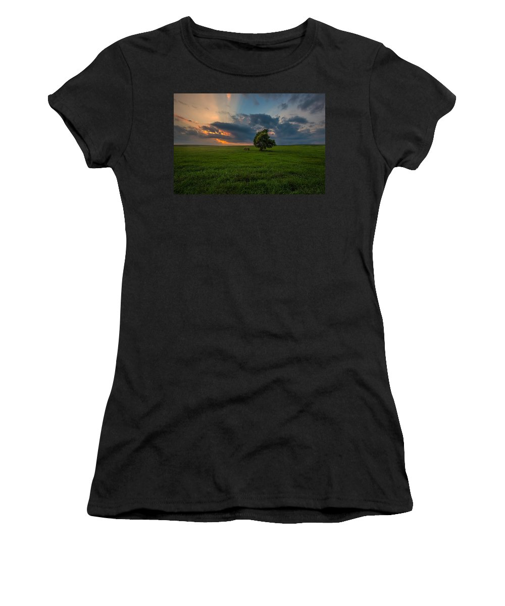 #clouds Women's T-Shirt featuring the photograph Windows Sd by Aaron J Groen